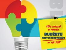 Budżet partycypacyjny 2018 - złóż wniosek